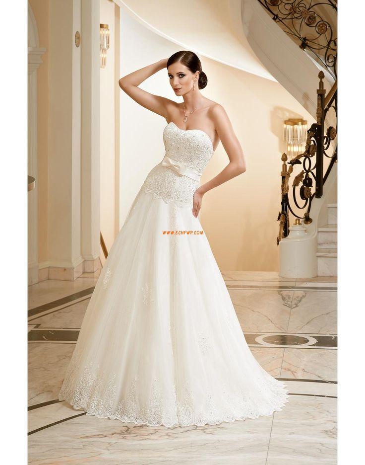 Ball Gown Bez ramiączek Naturalny Suknie ślubne 2012
