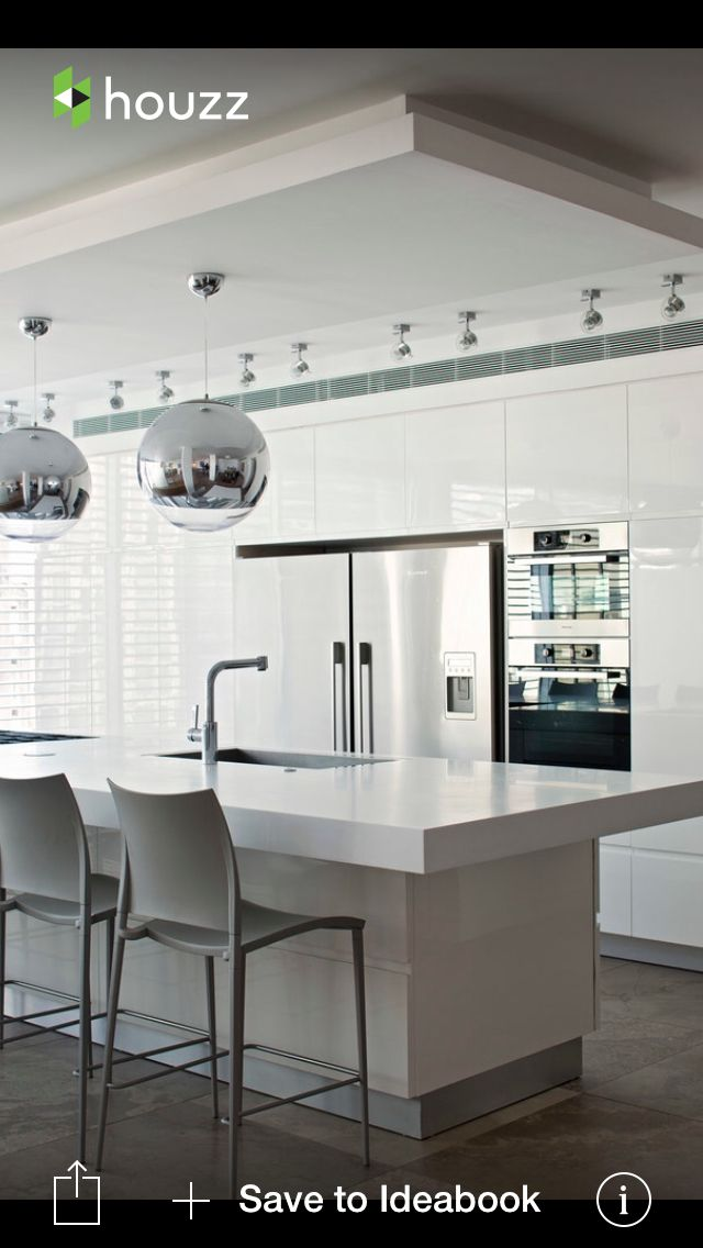 all white kitchen looks a little cold to me i would prefer mine with a - Modern Kitchen Looks