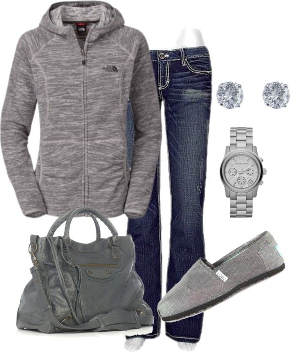 Love casual gray with jeans for running around as a stay at home mom...