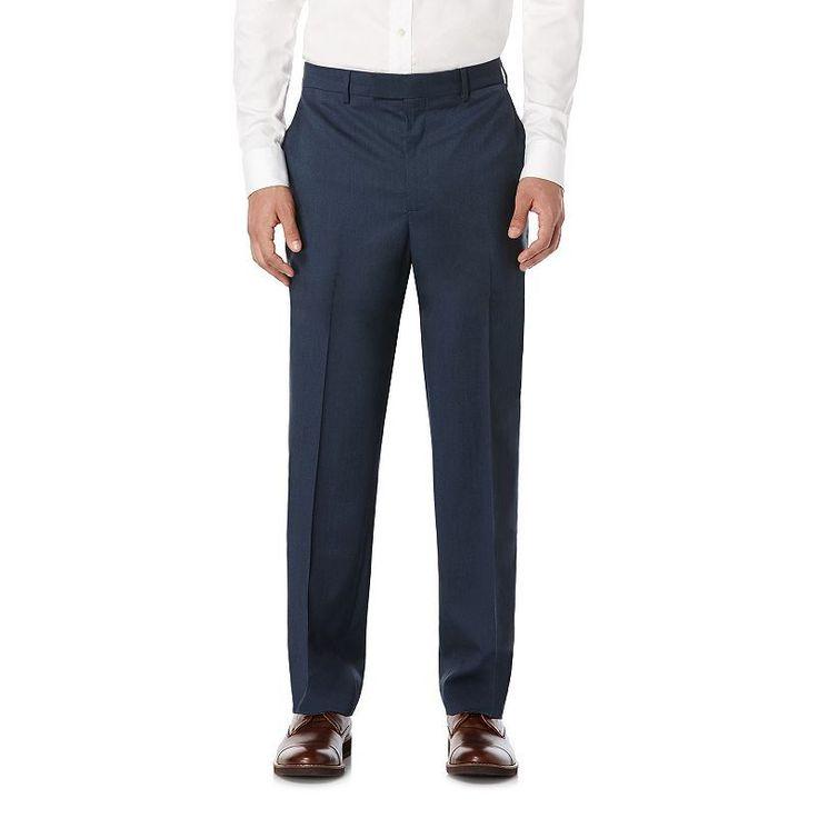 Savane Premium Flex Micro Tic Stretch Dress Pants, Men's, Size: 30X32, Brt Blue