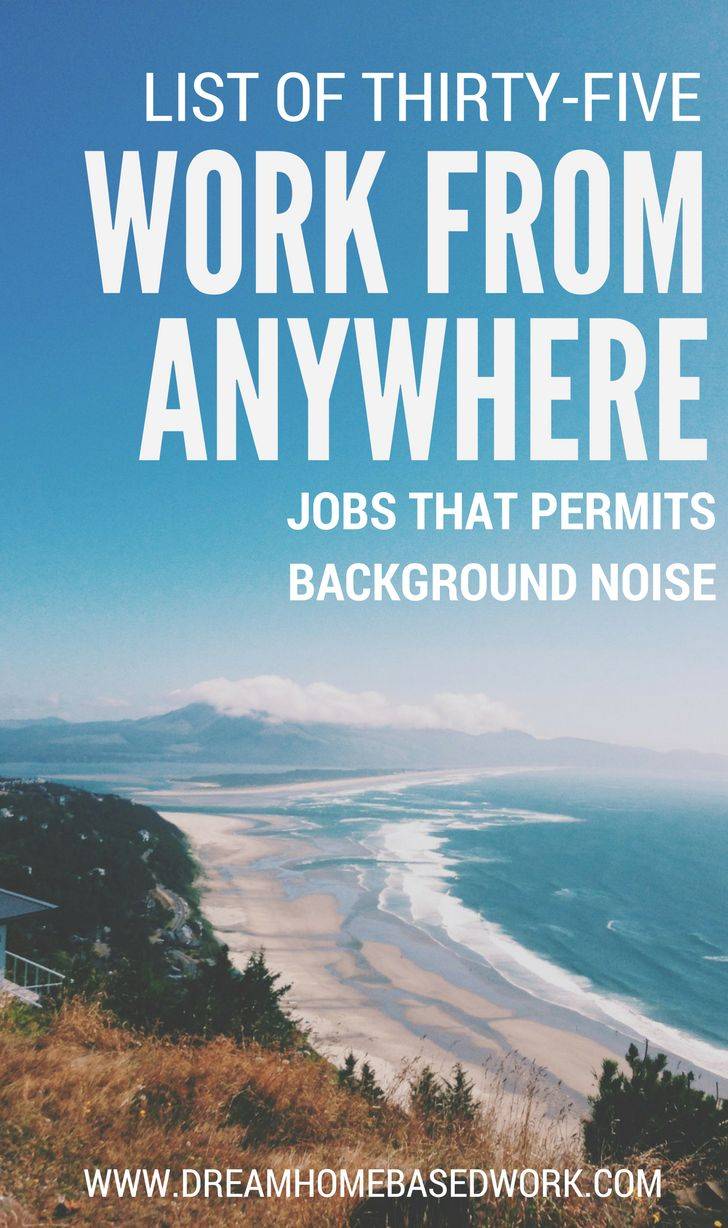 I am regularly asked for recommendations on work from home jobs that allow background noise. As a result I've put together a list of sites and gigs that allow you to work from anywhere no matter the noise level