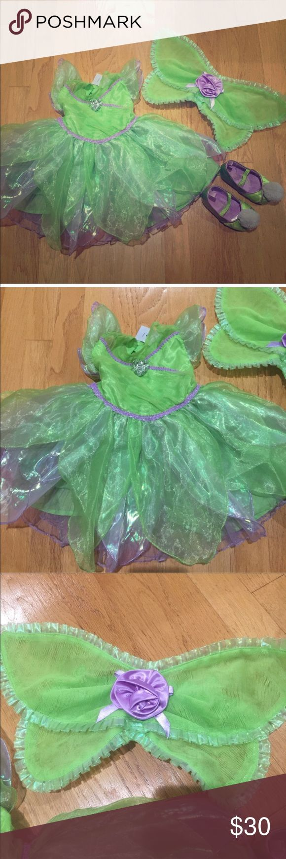 Toddler Tinkerbell Costume and shoes bundle Toddler Tinkerbell Costume and shoes bundle Costumes Halloween