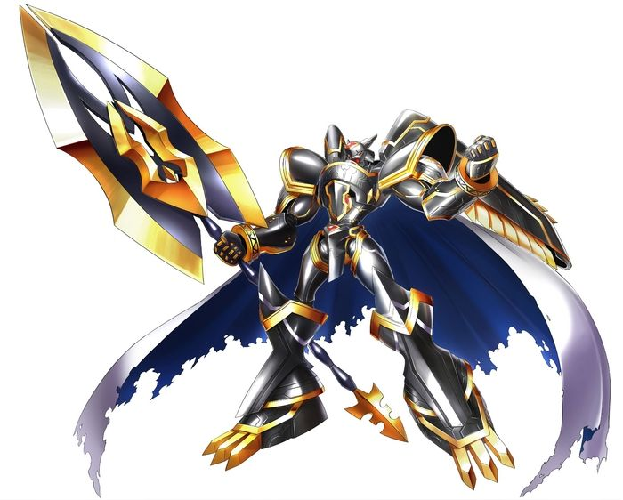 "Alphamon One of the Holy Knight-type ""Royal Knights"", the highest rank of Network Security which is said to have thirteen members. While it is a Holy Knight, it is said that to the Holy Knights it is a being like a deterrent force, and in normal times it doesn't appear, so it is even called the ""Aloof Hermit"" with a fluttering blue mantle, and is the ""Royal Knight"" that is assigned to the place called the ""Empty Seat"". In battle, it possesses the ability for the ultimate force, ""Alpha..."