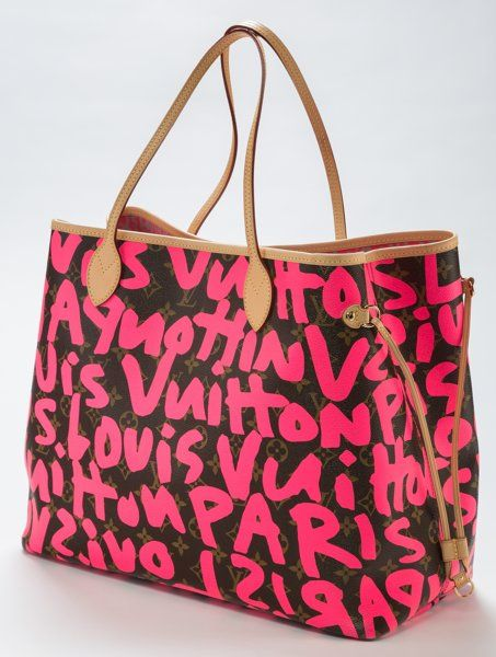 Other Contemporary Stephen Sprouse 1953 2004 Louis Vuitton Limited Edition Pinkmonogram Graffiti Canvas Neverfull Gm Bag 2009 Coated