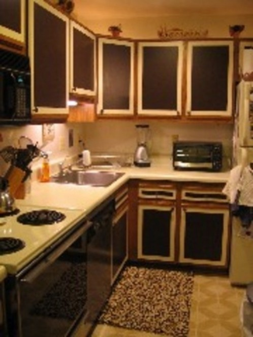 Formica kitchen cupboards painted over. | Kitchen cabinets ...