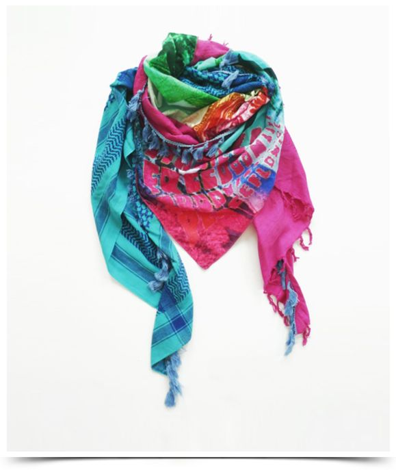 yippie hippie colorful scarves