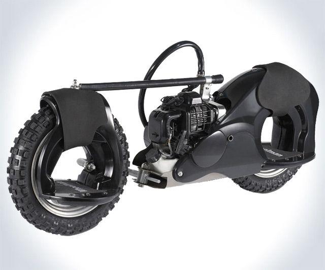 Wheelman 50cc Gas-Powered Skateboard | DudeIWantThat.com - this was VERY interesting