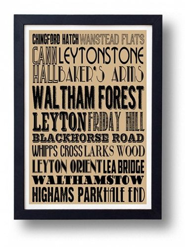 Waltham Forest Walthamstow Leytonstone Chingford by indieprints, $15.00