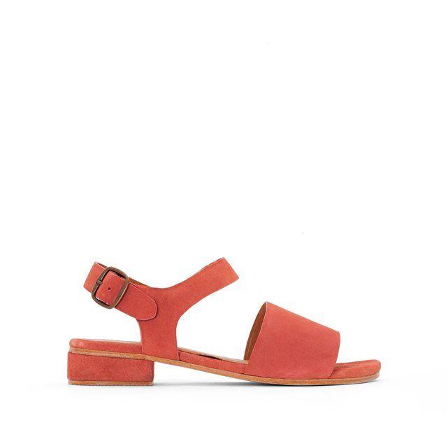 Sandales plates cuir - La Redoute