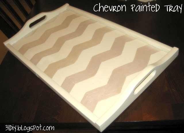 Printable chevron template {used on tray in picture}