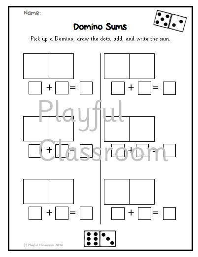Domino Sums for Senior Infants (Horizontal and Vertical