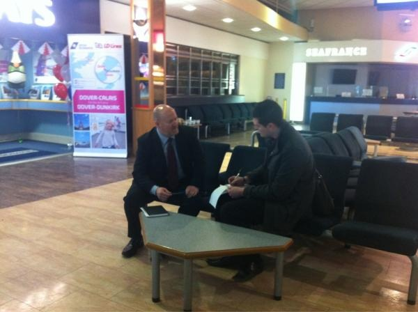 Interviewing Chris Newey from #DFDS #Seaways #Portsmouth #International #Port #PortsmouthPort #PIP