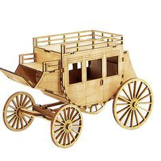 Wooden Model Transportaion Kits Junior Series- Scale models Western Carriage