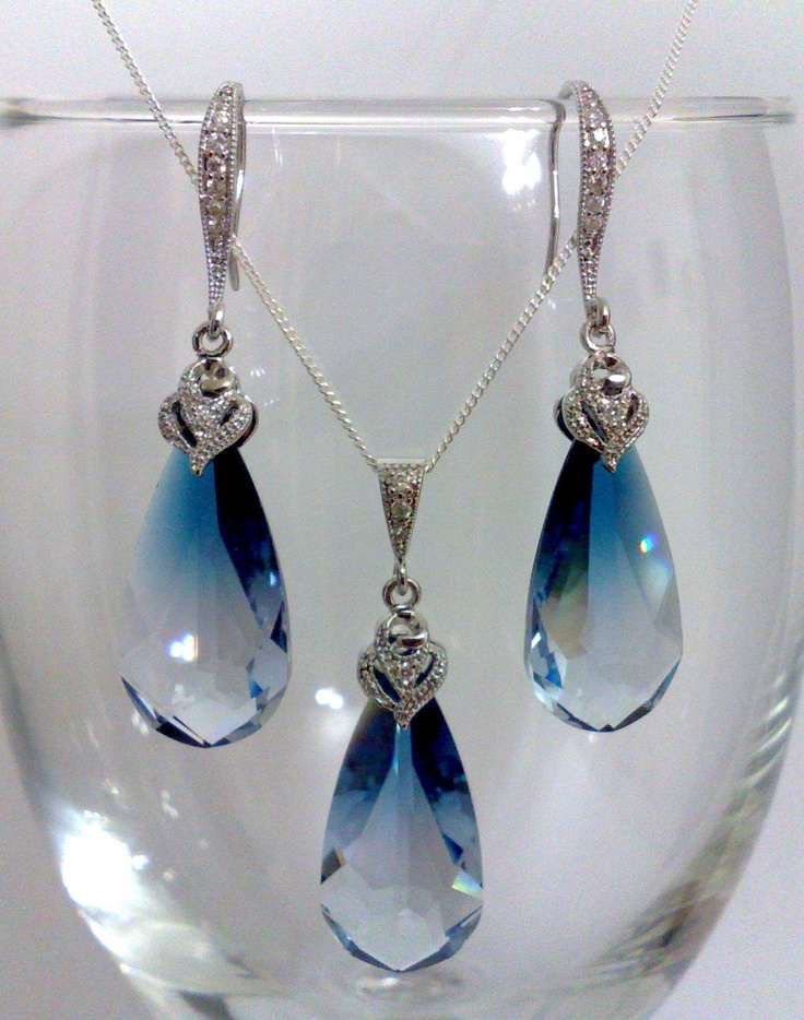 Something Blue Wedding Jewelry. View more tips & ideas on our Facebook Page : https://www.facebook.com/BoutiqueBridalParty