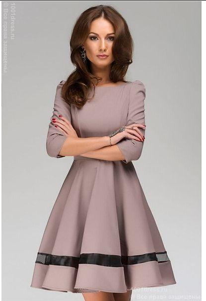 Горячая распродажа женская одежда 2014 осень новый женщины платье дамы мода сплошной цвет шею плиссированные платья с длинным рукавом рабочая одежда, принадлежащий категории Платья и относящийся к Одежда и аксессуары на сайте AliExpress.com | Alibaba Group