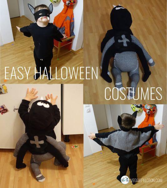 Easy Halloween costumes: spider and bat | VEGGIE PELOTON