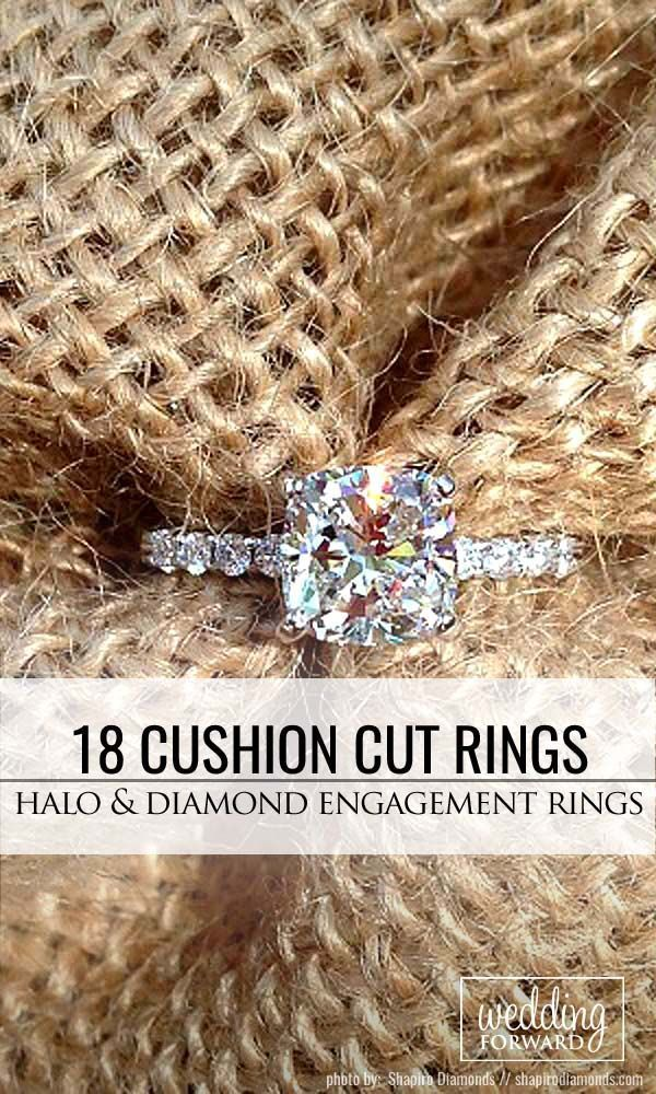 18 Brilliant Cushion Cut Engagement Rings ❤️ Cushion cut engagement rings become more and more popular and it is not surprising because they can look not only modern, but also vintage, very popular among brides. See more: http://www.weddingforward.com/cushion-cut-engagement-rings/ #wedding #engagement #rings