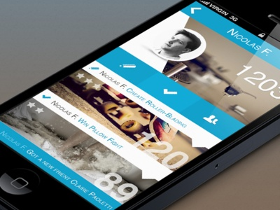 Dribbble - iPhone App Interface Profil by Claire Paoletti