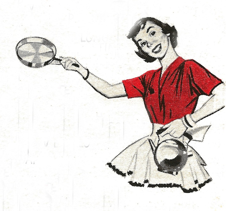 This graphic came from a Brillo ad, June 1956 Woman's Day.  I love the image -- This is where she's showing you 'there's jeweler's polish' in brillo
