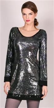 Hale Bob  Army Saturday Night Fever Sequin Dress