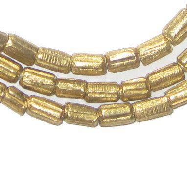 96 Messing äthiopischen kratzen Perlen - afrikanischen Brass Beads - afrikanische Metall Perlen - Schmuck Making Supplies - in Äthiopien gemacht (traf-Wanne-BRS-245)