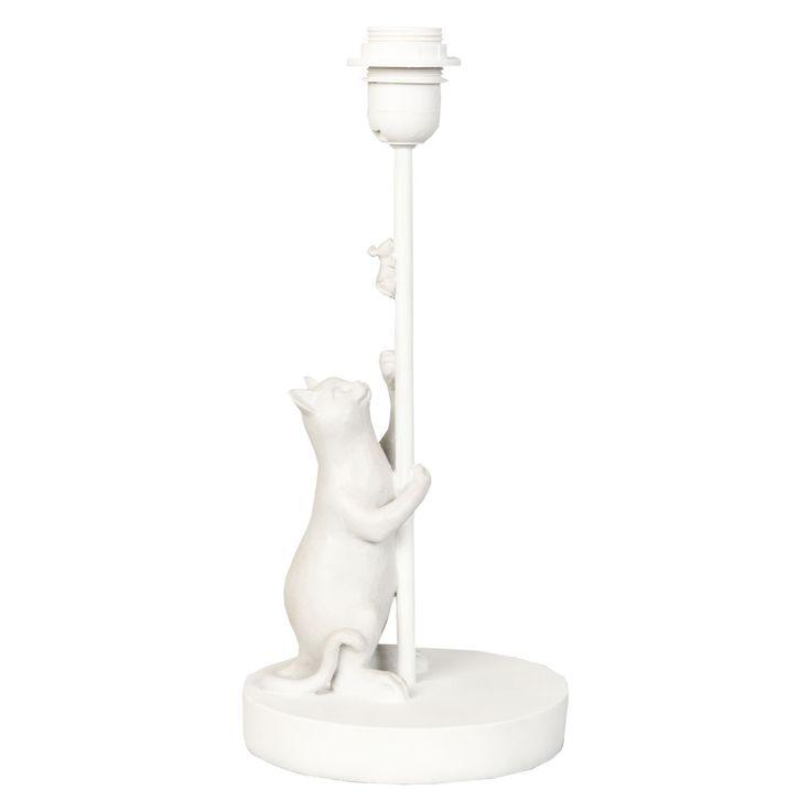 Clayre Eef 6lmp309 Tischlampe Stehlampe Lampenfuss Katze Maus Weiss Ca 17 X 17 X 36 Cm E27 Max 60w Werbung Wohnen Wohnacces Stehlampe Tischlampen Lampe