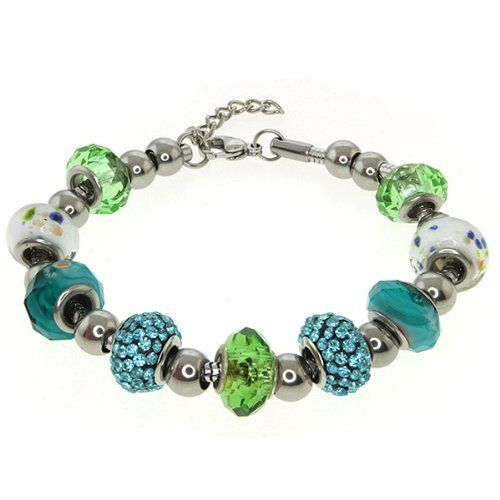 """Multi-Color Crystal Ball and Bead Compatible and Adjustable Bracelet 8 To 9.5"""" Gem Stone King. $21.49. 14MM Blue Color Pave Crystal Disco Bead. Multi-Color Crystal Bead. 34.00 Grams. Save 67% Off!"""