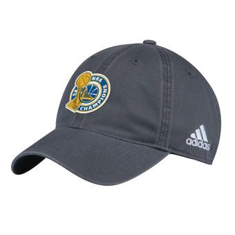 Golden State Warriors adidas Youth 2017 NBA Finals Champions Locker Room Unstructured Adjustable Hat - Gray