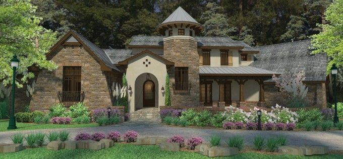 I am in love with this design!!!  English Cottage Plan with 3927 Square Feet and 3 Bedrooms from Dream Home Source | House Plan Code DHSW076578