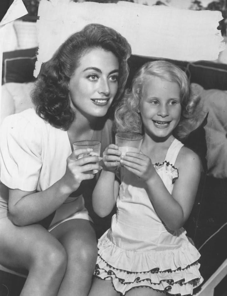 Christina Crawford and her mommy dearest, Joan Crawford...