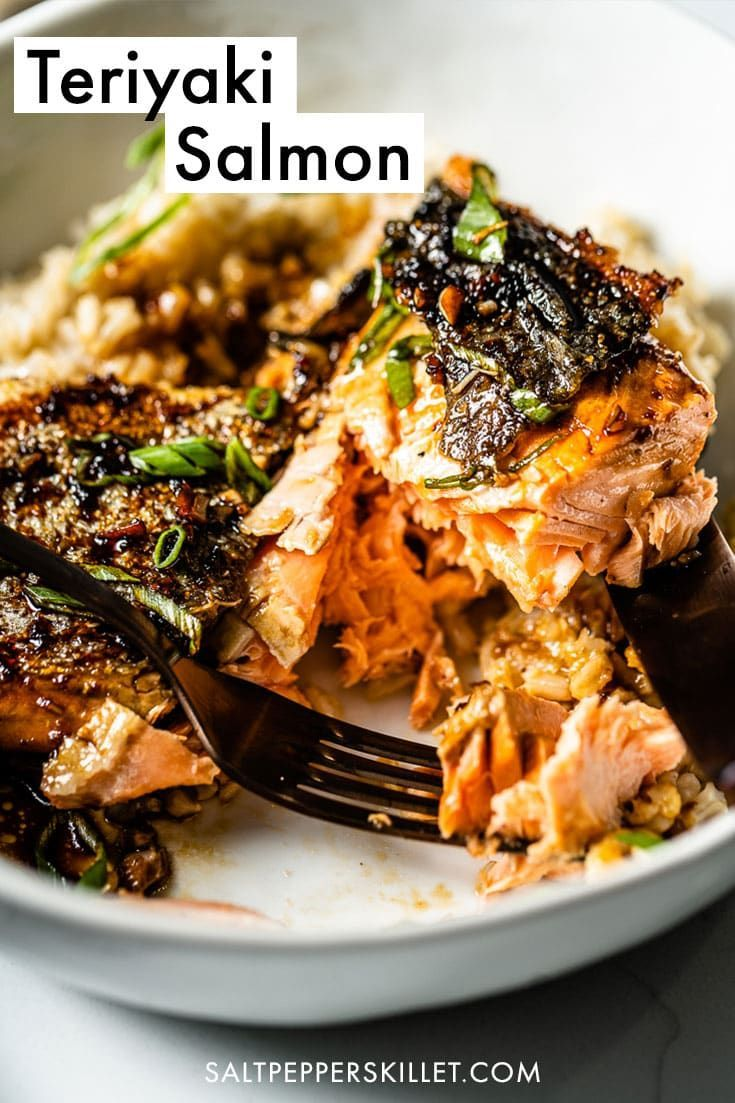 Teriyaki Salmon Salmon Teriyaki Recipe Salmon Recipes Delicious Seafood Recipes