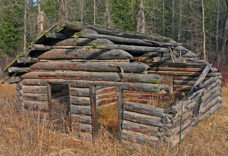 Old Log Cabin In Washington Ghost Town Photo Monte Dodge