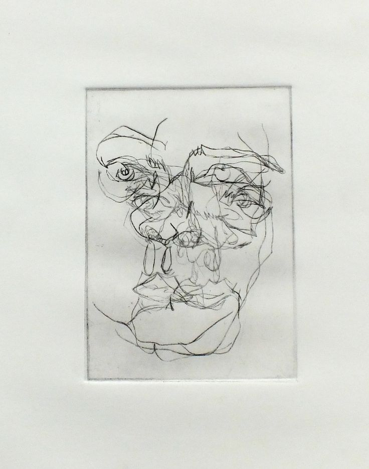 Maya - Three Drypoint prints - one piece of Fabriano -   Truro College - A Level Fine Art Coursework Show 2017