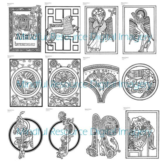 339 best images about zentangle on pinterest zentangle for Book of kells coloring pages