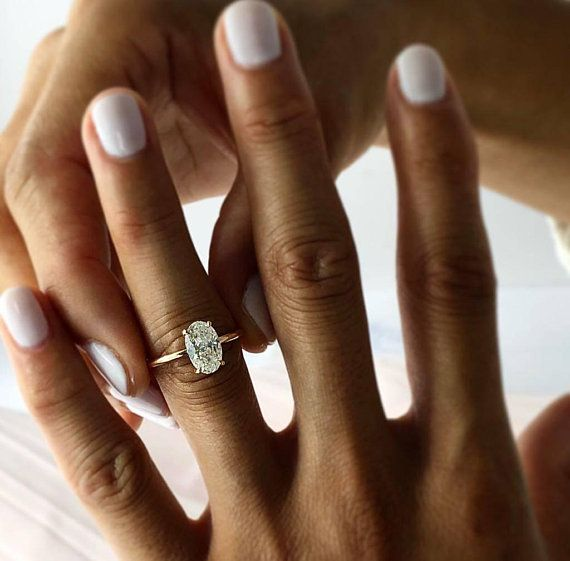 Oval Diamond Engagement Ring 2 10 Carat Oval Shape 14k Rose Gold Diamond Ring Oval Diamond Ring Solitaire Diamond Ring Engagement Ring Rose Engagement Ring Oval Diamond Engagement Ring Oval Diamond Engagement