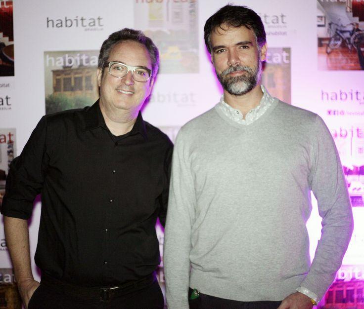 Hélio Albuquerque e Daniel Mangabeira na inauguração da Mostra Casa Viva. #casaviva #habitatnacasaviva