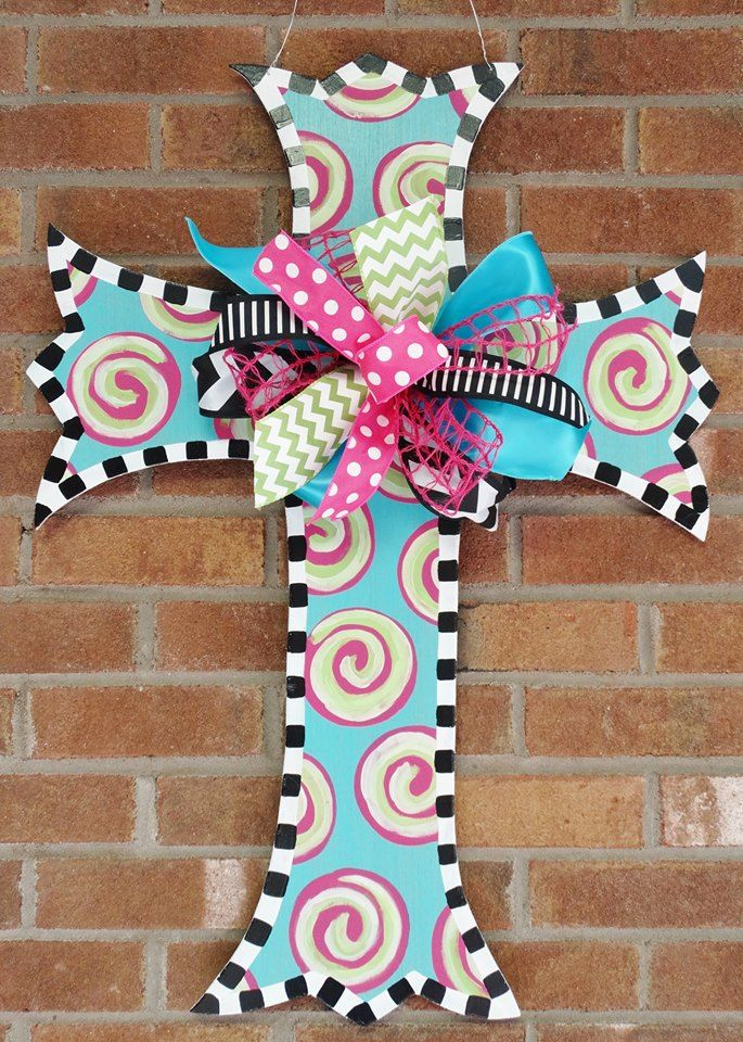 Scalloped Cross: Can be personalized $65 +shipping http://ashleynicholedesigns.com/bunny-eggs-p28-p29.html