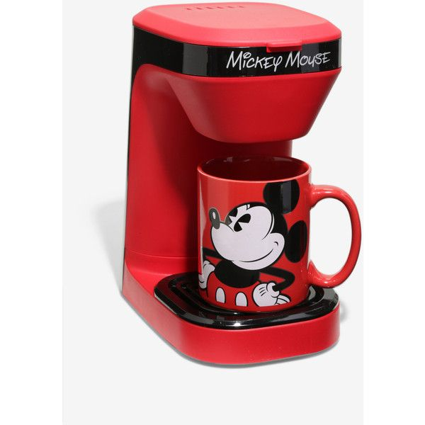 Disney Mickey Mouse Single Serve Coffee Maker (67 BRL) ❤ liked on Polyvore featuring home, kitchen & dining, small appliances, single serve coffee machine, single serving coffee maker, single serve coffee brewer, single serve coffeemakers and single serve coffee maker