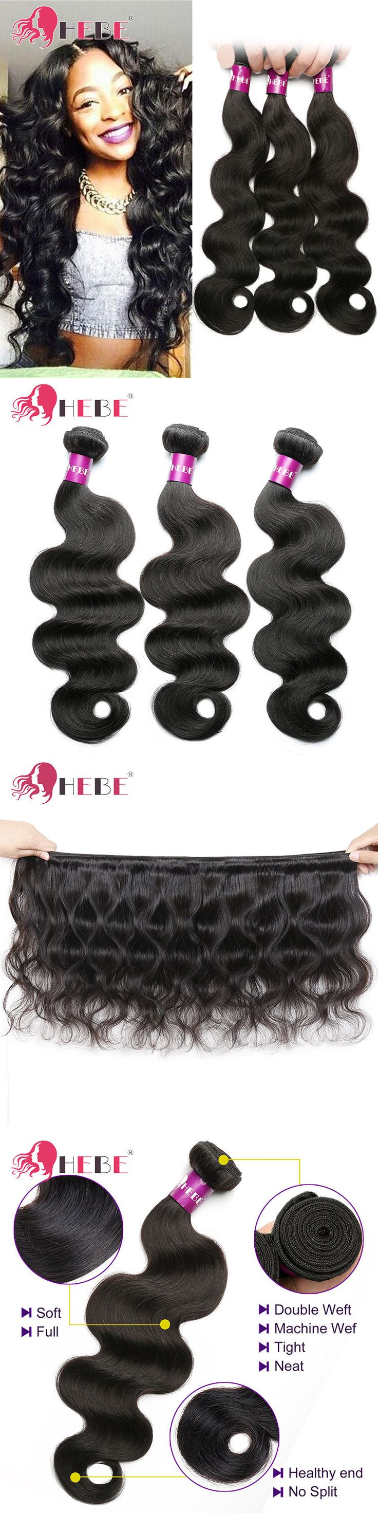 Hair Extensions: Brazilian Virgin Hair 100G Per Bundle Body Wave Unprocessed Human Hair Extension -> BUY IT NOW ONLY: $74.1 on eBay!