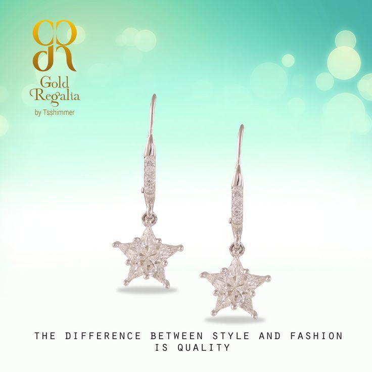 PEIGI - #Earring by Gold Regalia Visit us: https://goo.gl/uYnnto #DiamondJewelry #DiamondNecklace #WomensJewelry #IndianJewelry #GoldJewelry
