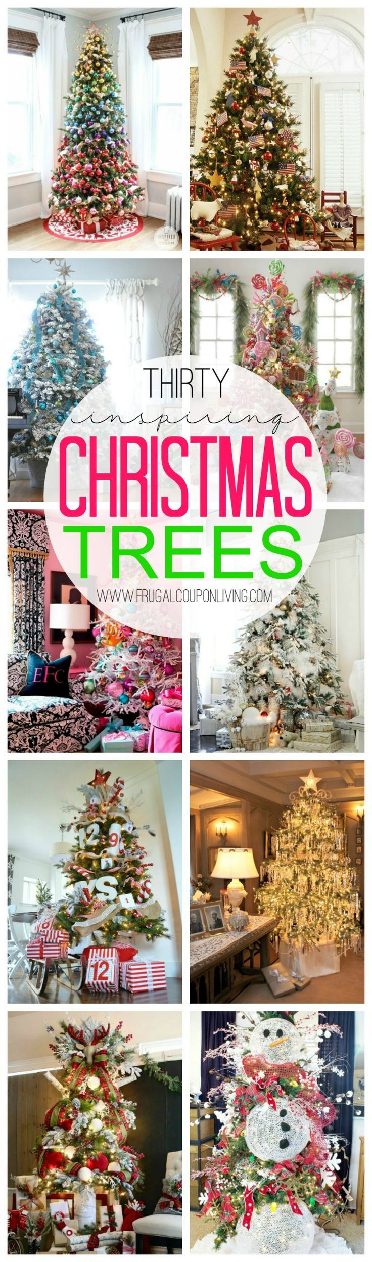 30 Inspiring Christmas Tree Ideas on Frugal Coupon Living - Christmas Treescapes, Christmas Decorating Ideas, Unique Christmas Trees, Original Christmas Trees and more!