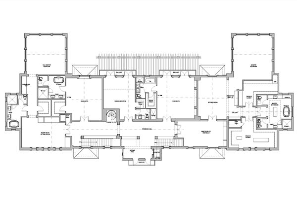 8 000 Square Foot Miami Beach Mansion Upper Level Floor Plan Address 40 Star Island Dr Star Island Miami Beach Mansion Floor Plans