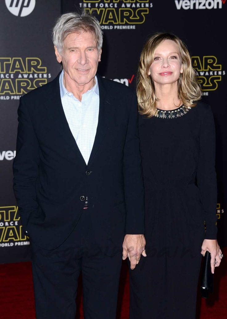 Harrison Ford y Calista Flockhart en el estreno de Star Wars