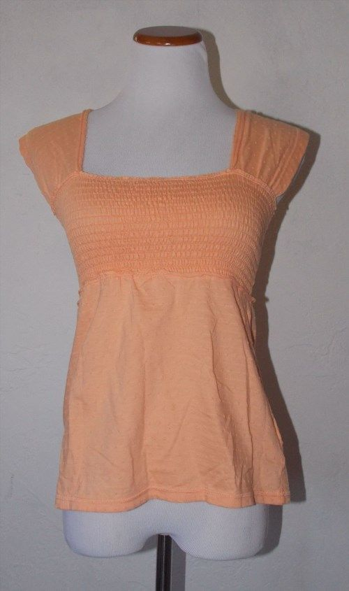 14.99$  Buy now - http://viilq.justgood.pw/vig/item.php?t=dykulcz2097 - Calvin Klein Jeans Orange Tank Top S Small Textured Blouse Cotton Sleeveless 14.99$