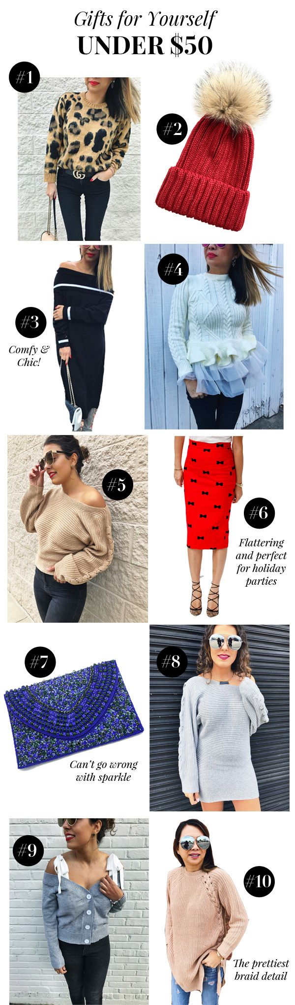 gift guides, christmas gift guides, gift guide under $50, gifts under $50, fashion blogger, gift guides for women, gift guides for sister, gift guide for mom, jewelry gift guide, what to buy her for christmas, what to buy my sister for christmas, what to buy my mom for christmas, blog gift guides, gift guides 2017, gift guide for me, gift guide for myself, sweaters, sweater weather, pretty sweaters, how to style a sweater, sweater gifts, christmas gift guide for me, christmas gift guide 2017