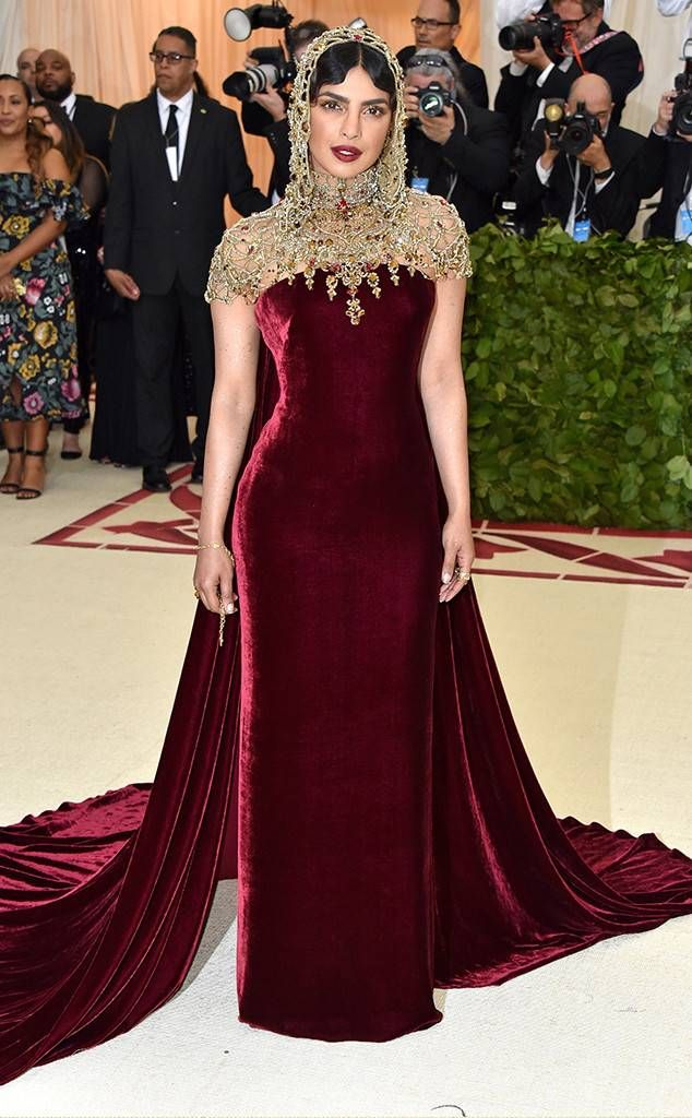 Priyanka Chopra From 2018 Met Gala Red Carpet Fashion Met Gala Dresses Celebrity Dresses Gala Fashion