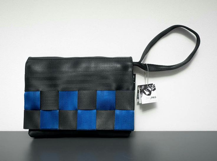 etue, upcycled, seatbelts, ecofriendly, vegan bag