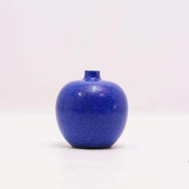 wazon studio Albert Kiessling Langenhessen | Albert Kiessling Langenhessen studio vase | buy on Patyna.pl #blue #vase #studio #AlbertKiesslingLangenhessen #Langenhessen #AlbertKiessling #ceramics #50s #60s #1950s #home #inspiration #decoration #decor #retro #vintage #Germany #tala