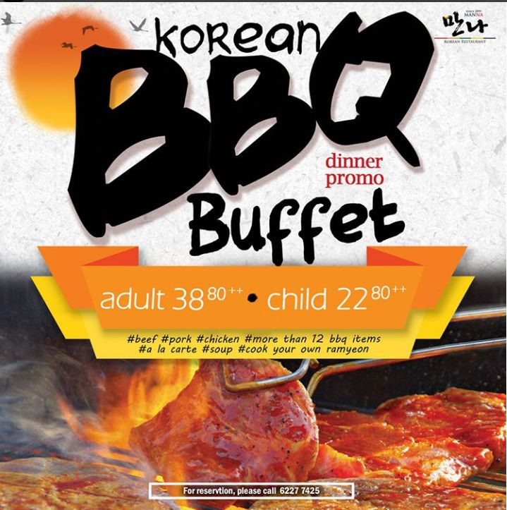 [DINNER PROMO] Ultimate Korean BBQ Buffet ! . ManNa is starting this Korean BBQ & a la carte Buffet very soon (1, Aug) !!! . More than 30 choices of food we prepared for you 😘 .#All #You #Can #Eat #ManNa #Korean #Telokayer #BBQ #Alacarte #Buffet #Challenge #Yourself #Premium #Quality