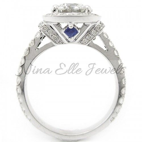1 50ct Round Cut Vera Wang Inspired Diamond Engagement
